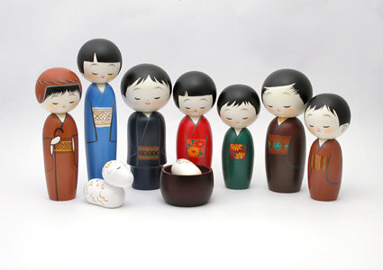 Kokeshi Nativity